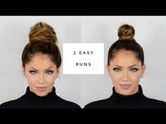 OLIVIA PIERSON Hair Tutorial | Two quick & easy buns - YouTube