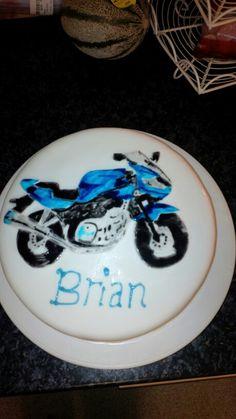 Hand painted Motorbike