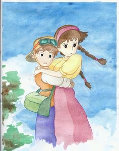 """Castle in the Sky"" fanart.  OMG I love them.  SO ADORABLE!!! :D"