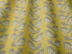 iLiv Scandi Birds mustard fabric<br />We recommend a sample of this fabric if colour is important to you as colours on different screens may vary.
