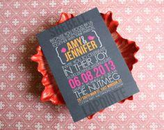 dog wedding invites | Modern, Wedding invitation and RSVP Postcard- Custom, Chic and Sleek ...