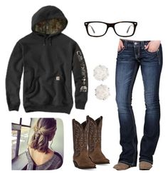 """""""Tomorrow is the last day of school❤︎"""" by johndeerebabe on Polyvore featuring Miss Me, Laredo, Chanel and Ray-Ban"""