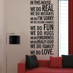 Wall Decal for the home