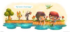 My Summer in Animal Crossing by lilibz.deviantart.com on @deviantART