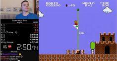 [VIDEO] Il finit Super Mario Bros en 4 min 57 secondes 260 centièmes nouveau record du monde