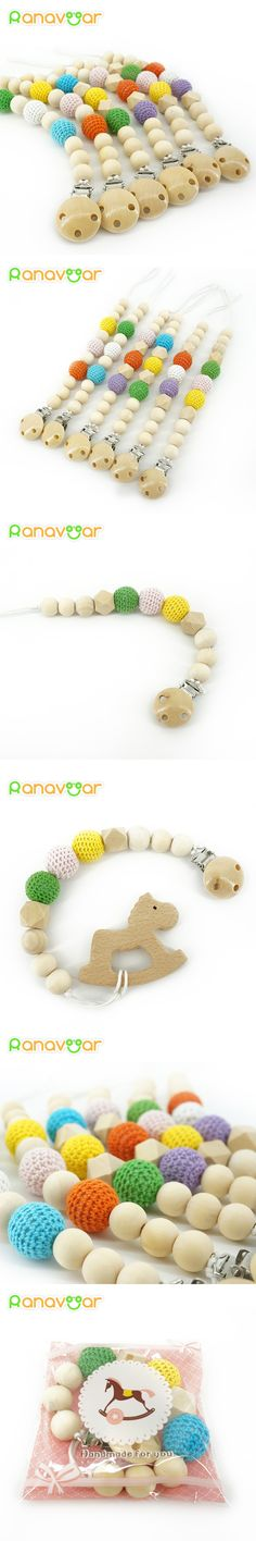 Natural Pacifier Clips Gift Dummy Handmade Safe Wooden Pacifier Chain Holder Baby Nipple Feeding Garment Wooden Clip NZL06