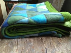 OCEAN Upcycled Vintage Blanket Quilt Cashmere Merino by sartoria