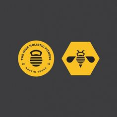 "Gefällt 796 Mal, 20 Kommentare - Steve Wolf (@stevewolfdesigns) auf Instagram: ""Branding elements for The Hive Holistic Fitness here in Austin. #logo #typography #branding #bee…"""
