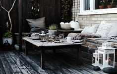 A cosy outdoor space for autumn