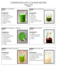 Green smoothies are power packs of liquid gold - find here green smoothie recipes that can totally transform your health (including heavy metal detox smoothie) Homemade Juice Cleanse, Juice Cleanse Recipes, Detox Juice Cleanse, Juice Cleanses, Healthy Juice Recipes, Juicer Recipes, Healthy Detox, Healthy Juices, Detox Recipes