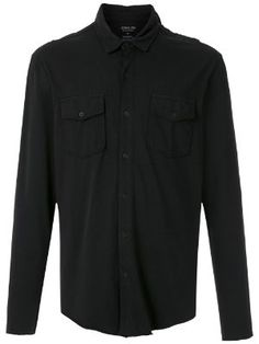 Moda Masculina - Camisas - Farfetch Army Shirts, Denim Shirt Men, Women Wear, Front Button, Shirt Dress, Long Sleeve, Mens Tops, Pockets, Fashion Design