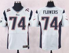 49050b47c ... Mens New England Patriots 74 Trey Flowers White Road NFL Nike Elite  Jersey ...