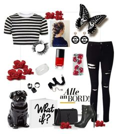 """""""Chaney"""" by tmorris-tm on Polyvore featuring Topshop, Yves Saint Laurent, Chanel, INC International Concepts, Miss Selfridge, Sweet Romance, Quail and Casetify"""