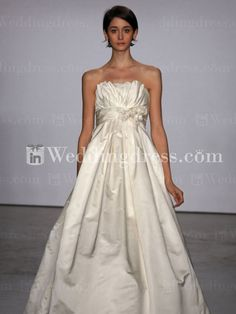 Strapless A-line Empire Wedding Dress with Gathering BC117