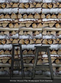 Winter Wood Pile wallpaper from Kemra
