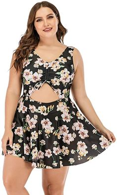 online shopping for ESPRLIA Plus Size Floral Prinit Halter Swimwear One Piece Pin Tankini Swimwear from top store. See new offer for ESPRLIA Plus Size Floral Prinit Halter Swimwear One Piece Pin Tankini Swimwear Fishtail Maxi Dress, Faux Shearling Coat, Plus Size Tankini, Best Summer Dresses, See Through Dress, One Piece Suit, Swim Dress, One Piece Swimwear, Swimwear Fashion