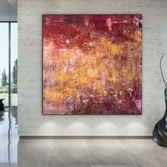 Large Wall Art Original Paintings On Canvas Industrial image 1 Textured Canvas Art, Abstract Canvas Art, Large Canvas, Colorful Artwork, Extra Large Wall Art, Office Wall Art, Large Painting, Texture Art, Contemporary Art