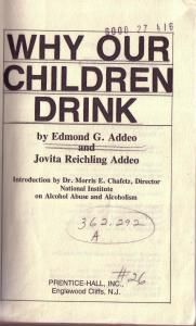 Why Our Children Drink Addeo 1975