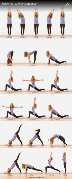 This twisty Surya Play sequence will stretch your side body &;wring out&; your sp&; This twisty Surya Play sequence will stretch your side body &;wring out&; your sp&; This twisty Surya […] Yoga sequence Yoga Bewegungen, Hatha Yoga, Sup Yoga, Yoga Moves, Restorative Yoga, Iyengar Yoga, Yoga Exercises, Kundalini Yoga, Yoga Meditation