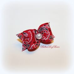 Little Country Girl w/Pearl Dog Bow by BellasDogBows, $8.99 USD