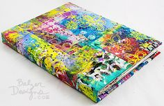 Art Journal Every Day with Balzer Designs -- Making a New Junque Journal with a Fabric Cover