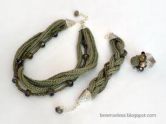 necklace, bracelet, ring -- tricotin