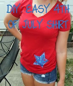 Prep at the Beach: Easy DIY 4th of July T-Shirts
