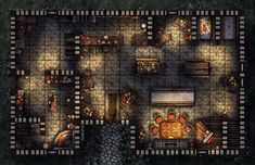 Dragon's Tale Inn, a FREE printable and online battle map for Dungeons and Dragons / D&D, Pathfinder, and other tabletop RPGs. Tags: tavern, night, shop, encounter, inn, town, city, village, house, print, roll20, Fantasy Grounds