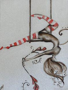 Trapeze Canvas Print / Canvas Art by Jordana Archer Aerial Acrobatics, Aerial Dance, Aerial Hoop, Aerial Arts, Aerial Silks, Circus Tattoo, Dance Silhouette, Pole Art, Circus Art