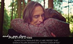 "whyweloveonceuponatime: Rumplestiltskin and Belle are proof that even a villan deserves a ""Happily Ever After."" Aaaawwww!!!"