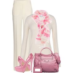 A fashion look from March 2013 featuring summer tops, wide leg pants and leather man bags. Browse and shop related looks. Work Fashion, Fashion Outfits, Womens Fashion, Fashion Trends, Professional Outfits, Complete Outfits, Swagg, Stylish Outfits, Passion For Fashion