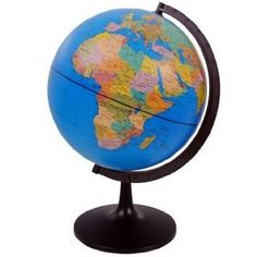 Swivel Geographical Globe - 28cm