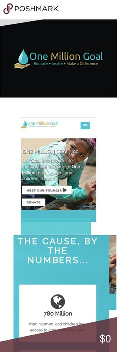 💧💙💧ONE MILLION GOAL 💧💙💧 20% of all my earnings (after posh fees) will be donated to One Million Goal water charity. I am also selling unisex OMG tees! OMG has been raising consciousness about the global water crisis since 2014 when it was founded by New Bern, NC local, Garret Biss. Last summer, a team of dedicated water warriors (w the help of donations from wonderful members of our community) were able to travel to Nicaragua + install water filtration systems in 2 schools + a…