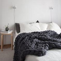 Scandinavian Style Bedroom, Nordic Bedroom, Scandinavian Design, Interior Design Examples, Design Ideas, Gray Bedroom, Master Bedroom, Cozy White Bedroom, Coziest Bedroom