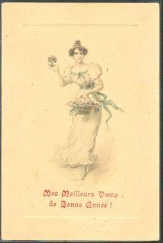 ~HB077 VIENNE Style FEMME Elegante CORBEILLE De FLEURS ~