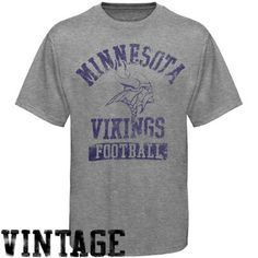 91d25a7ef Junk Food Minnesota Vikings Ash True Vintage Tri-blend Premium T-shirt