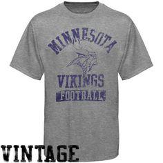fba8e699d Junk Food Minnesota Vikings Ash True Vintage Tri-blend Premium T-shirt