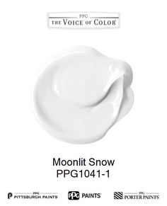 Moonlit Snow is a part of the Whites collection by PPG Voice of Color®. Browse this paint color and more collections for more paint color inspiration. Get this paint color tinted in PPG PITTSBURGH PAINTS®, PPG PORTER PAINTS® & or PPG PAINTS™ products.