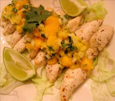 """Mango Chicken from Food.com:   A quick delectable recipe with a wonderful spice blend. In the summer use fresh peaches, they are wonderful!! from """"heart Healthy Cooking"""" by Becel"""