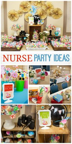 Paper and Cake's Office Party / We Think the World of You - Celebrate Nurses Day at Catch My Party Graduation Party Games, Nurse Party, Nursing School Graduation, College Graduation Parties, Nursing Schools, Valentine's Day Party Games, Party Time, Nurses Day, Nurses Week Ideas