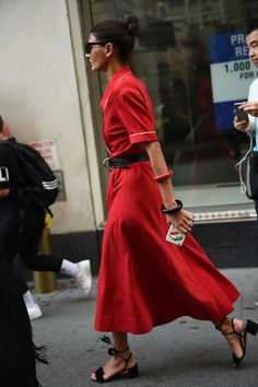 Street-style images of New York fashion week