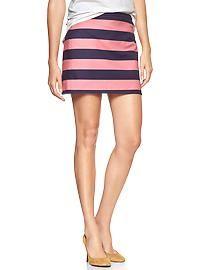 Rugby-stripe mini skirt
