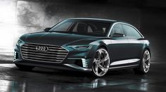 """A """"design with dynamic elegance"""" is how Audi is describing its new prologue Avant concept car, which is being unveiled next week at the Geneva motor show. The design study gives another glimpse into the future of Audi design just four months after the […] Audi R8 V10, Porsche Gt3, Allroad Audi, Porsche 2017, Audi Wagon, Audi Kombi, Volkswagen, Bmw M6, Geneva"""