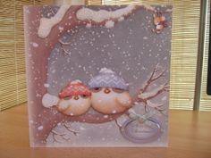 Handmade Christmas Card - Cute Christmas Owls   Kibbs Cards MISI Handmade Shop