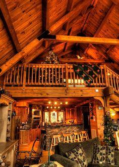 Cabin Loft, Tiny House Cabin, Log Cabin Homes, Cozy House, Cabins In The Woods, House In The Woods, Dream Home Design, House Design, Design Design