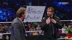 Deans got a tie and a logo and everything.. he's prepared. He's a bit anxious #RAW April 11 2016