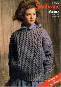 Paper Knitting Pattern ~ Vintage Sunbeam 404 Sweater Childrens Boys Girls Jumper