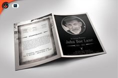 Rustic Funeral Program Template by SeraphimChris