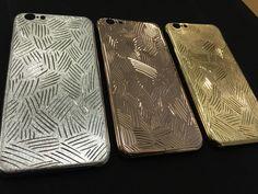 La mela iPhone case cover luxury handmade in italy 18 Kt gold