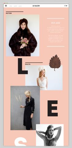Someone let me do a fashion shoot of your staff and do this for your web! Come on! Le SALÓN by Inbal Lapidot, via Behance